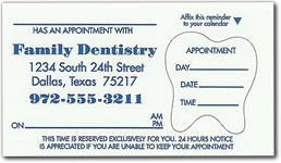 Custom Dentist Appointment Card Labels