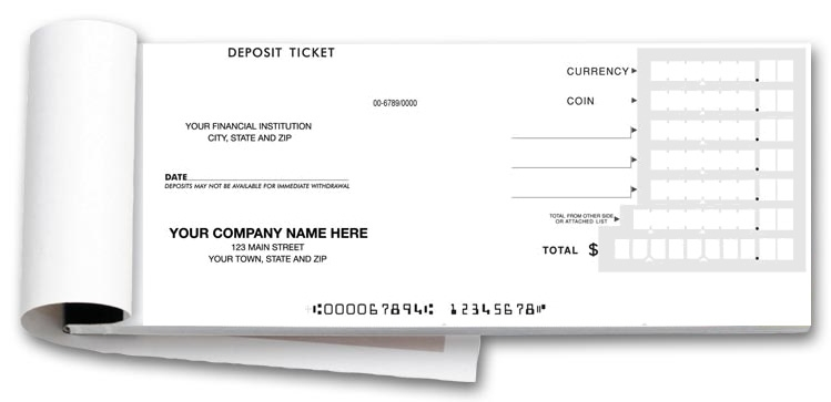 100050 - Quick Entry Deposit Ticket Books