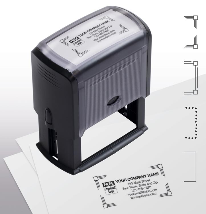 Self-Inking Name & Address Large Stamp with personalization