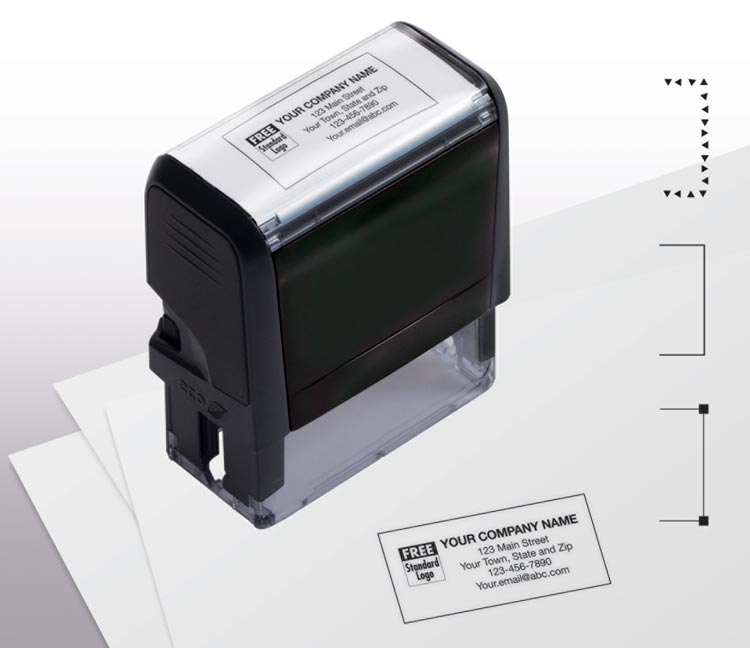 Self-Inking Name & Address Medium Stamp with personalization