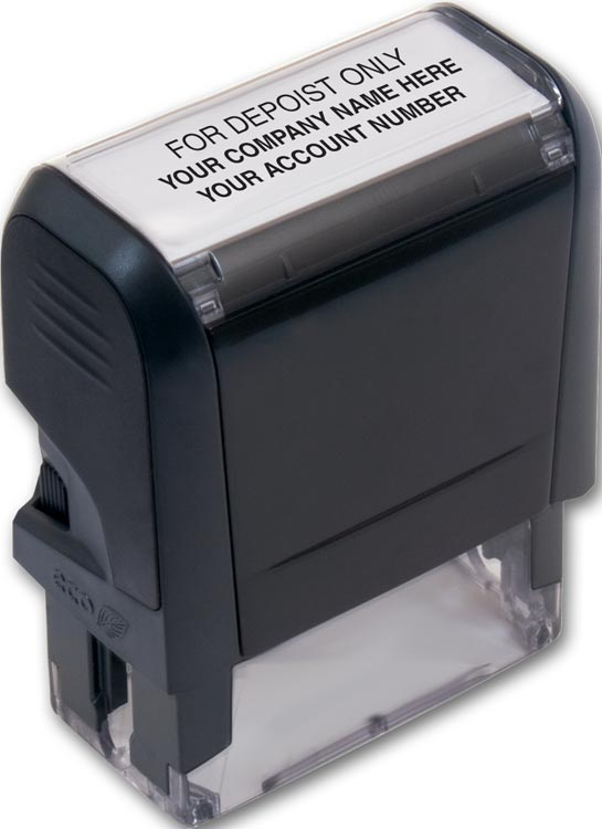 Self -Inking Endorsement Layout Stamp with personalization