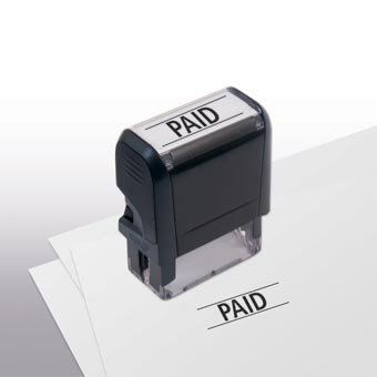 Self -Inking Paid Stamp with personalization