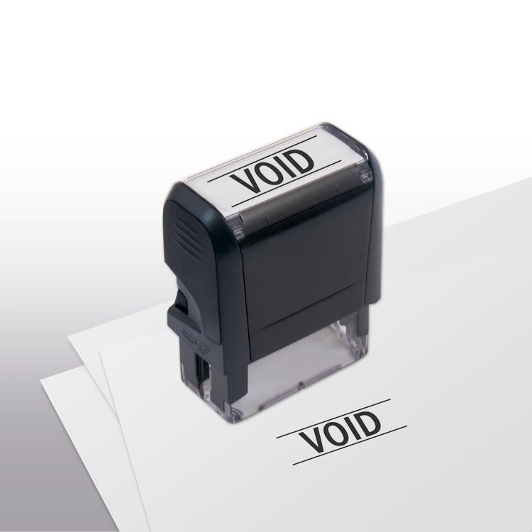 Self -Inking Pre-Paid Void Stamp with personalization