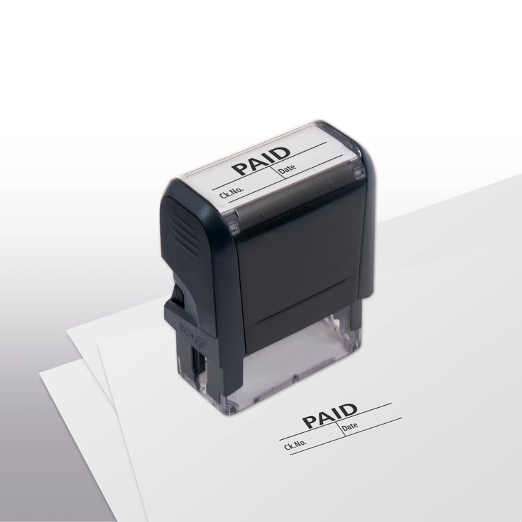 Custom Self-Inking Paid w/ boxes Stamp