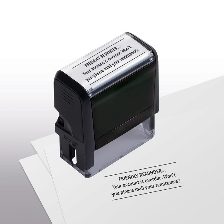 Custom Self-Inking Friendly Reminder Stamp