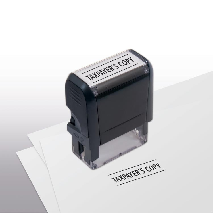 Custom Self-Inking - Taxpayer's Copy Stamp