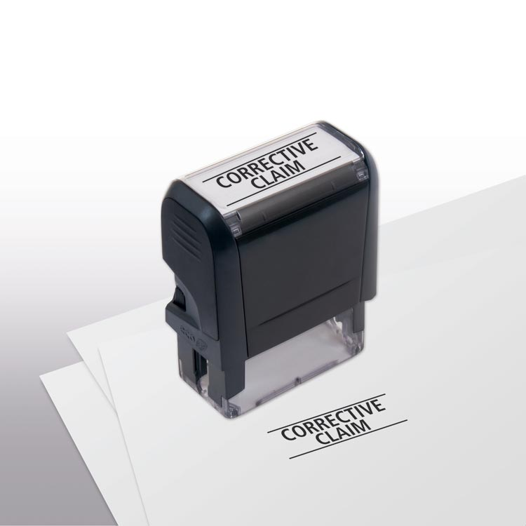 Self-Inking - Corrective Claim Stamp with custom options