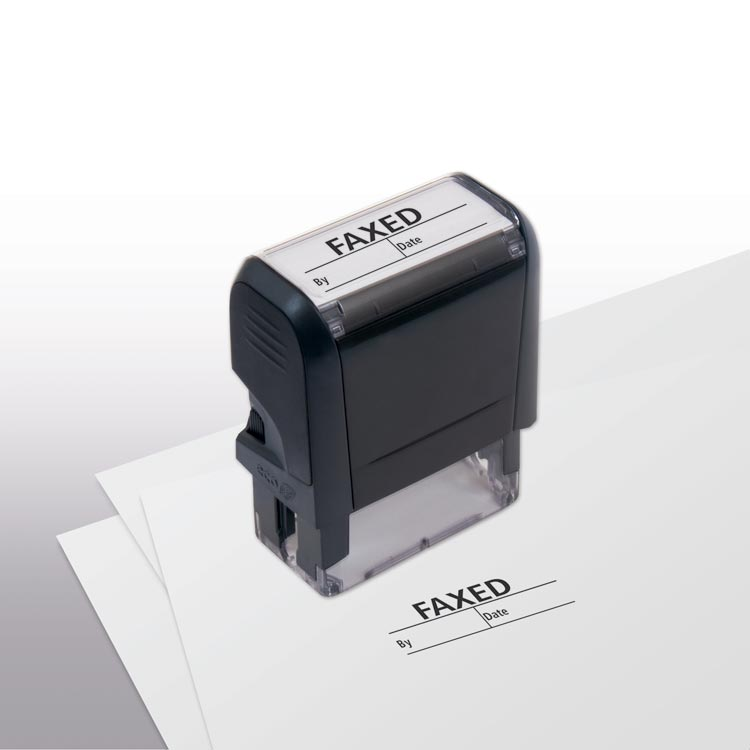 Faxed boxes Stamp custom options