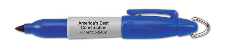 Handy mini SHARPIE marker is the perfect size to take anywhere! Promote your business with the barrel imprinting.