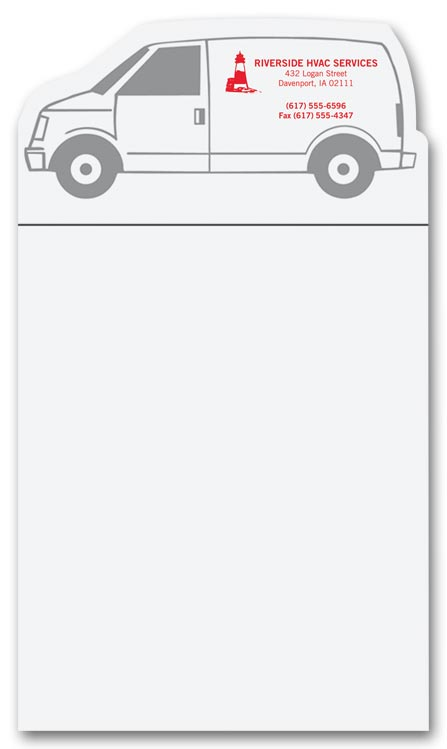Promotional Van Notepad Magnets witth  Custom option