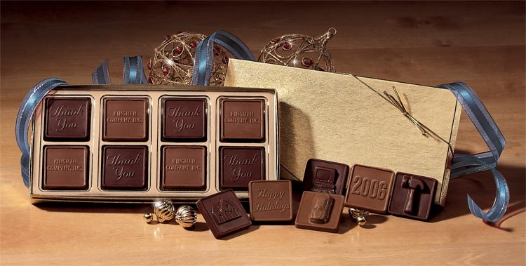 108714 - Personalized Holiday Chocolate Gift Boxes