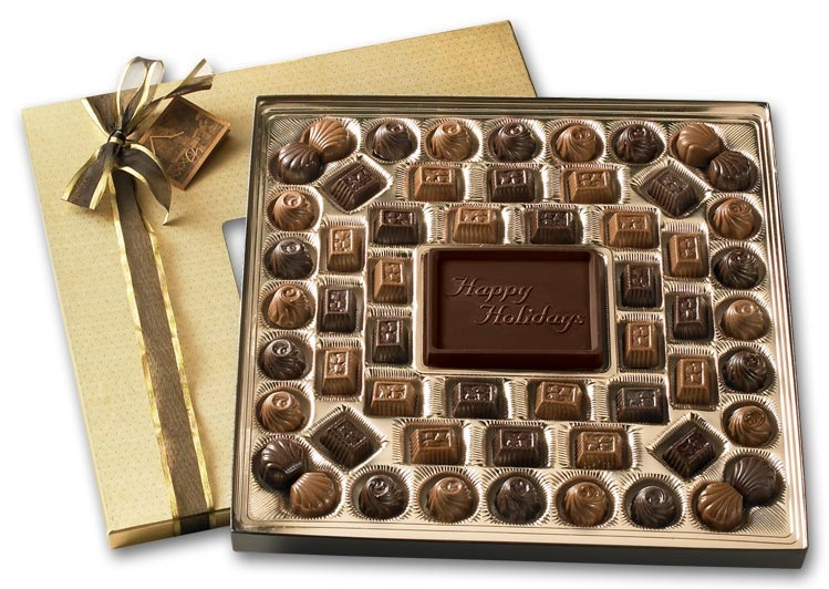 108717 - Large Holiday Chocolate Gift Box: Truffles