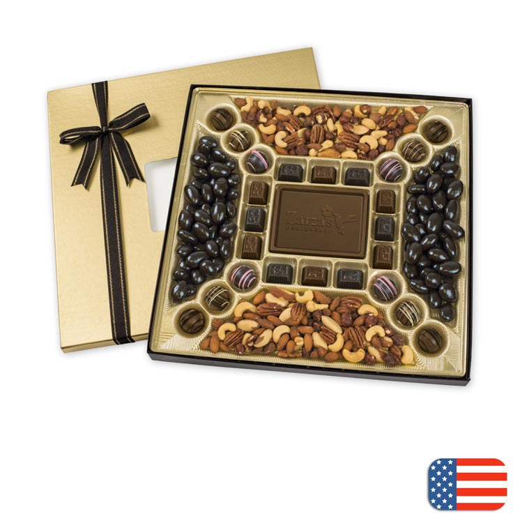 Beautiful gift box with 8 truffles and personalization