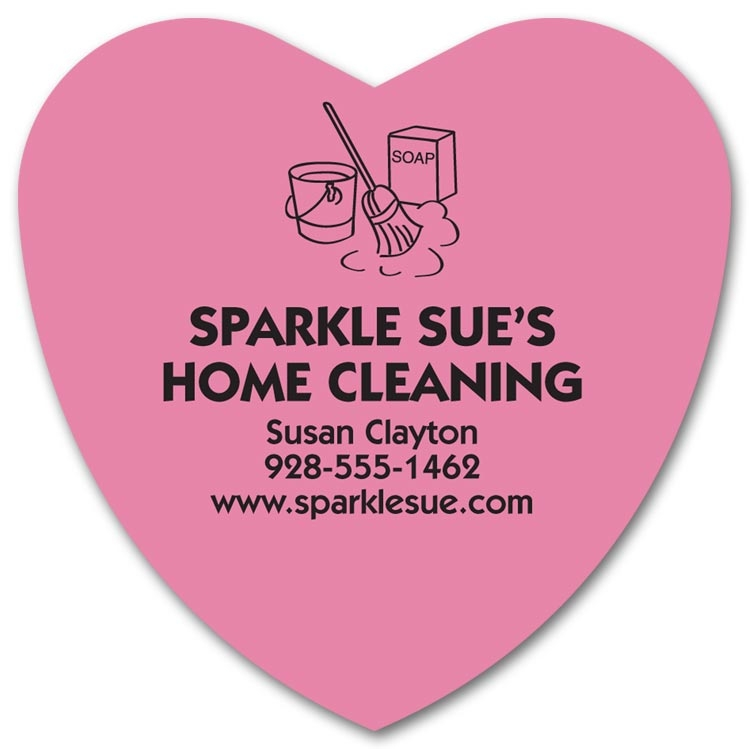 Personalized Heart Shaped Magnets are a perfect way to promote your business.