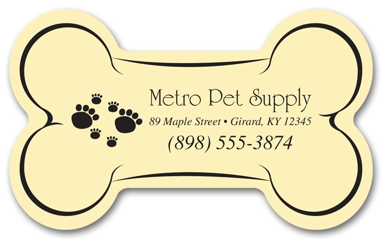 Personalized Dog Bone Magnets are ideal for promoting your business.