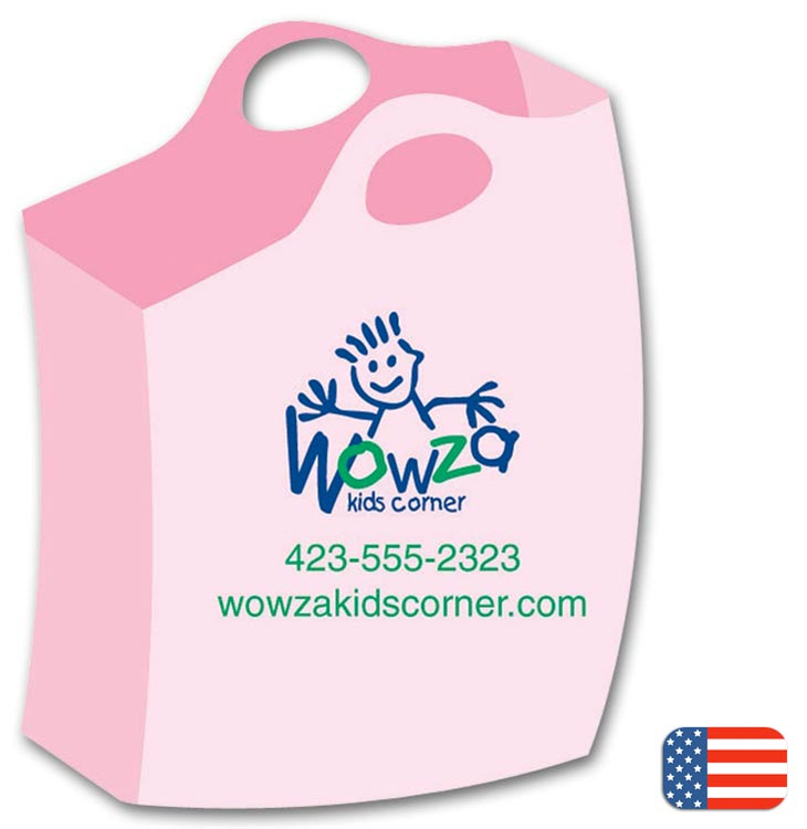 Promote your business with these fun Shopping Bag Magnets.