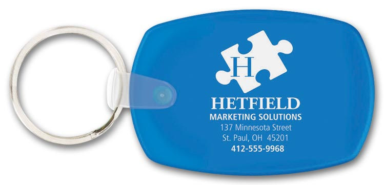 Custom Oblong Key Tag for Promotion