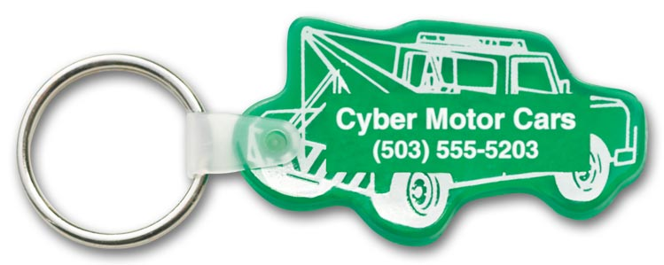 Custom Tow Truck Key Tag for promotions