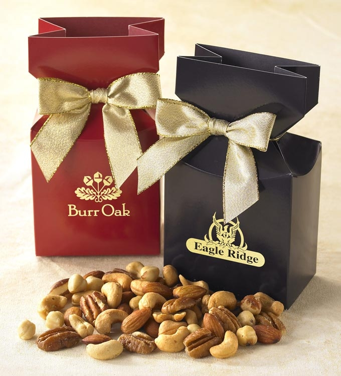 Custom premium delights-mixed nuts gift box with personalization