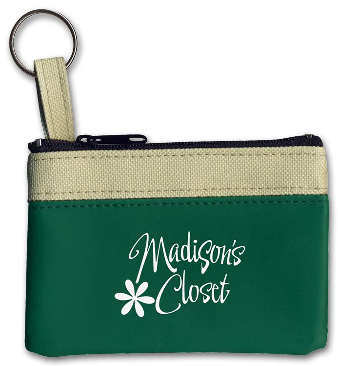 Custom Keyring Zippered Classic Pouch