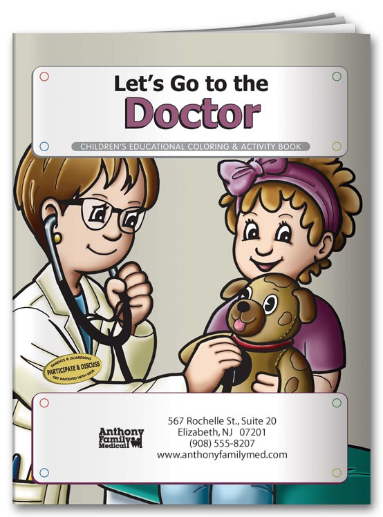 Custom Doctor Coloring Book for Promotions