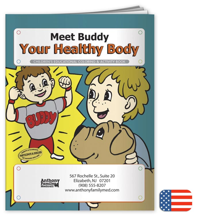Promotional Body Coloring Book with Custom option