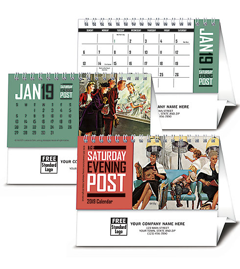 2018 customized calendar with the Saturday Evening Post edition.