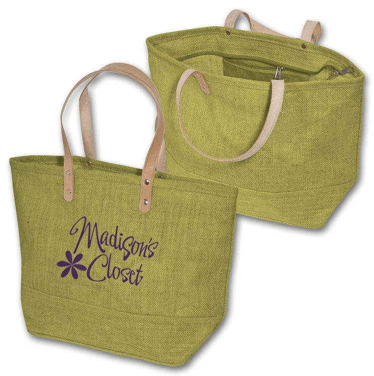 Custom Hamptons Jute Tote fro Promotion