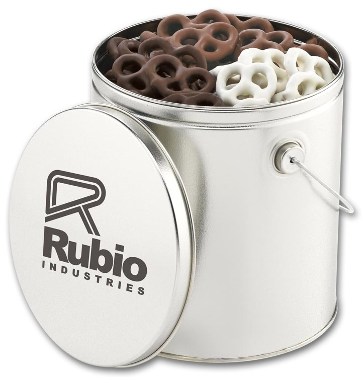 109465 - Personalized Tin Gifts - Chocolate Covered Pretzels