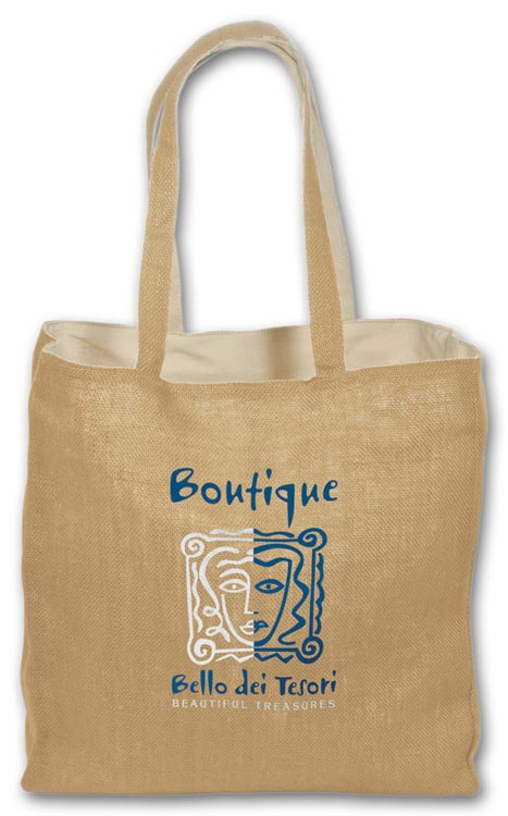 Custom Jute/Cotton Tote for Promotion