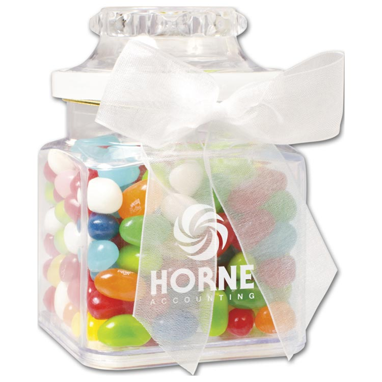 Custom gourmet greetings in a jar jelly belly to promote your business