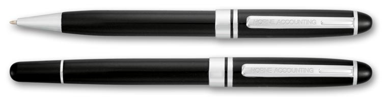 Promote your company with class and elegance with this Bristol Pen Set.