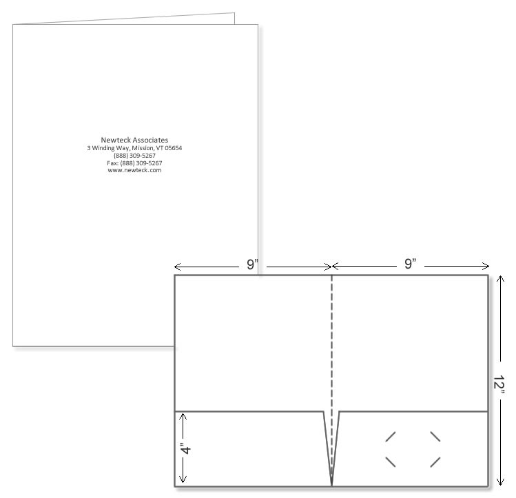 Custom presentation folders printed on white glossy stock