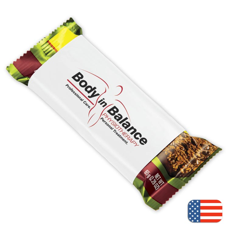 Custom healthy clif bars with a personalized wrapper