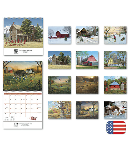 Delight customers with a customized, spiral-bound wall calendar featuring American agricultural photography.