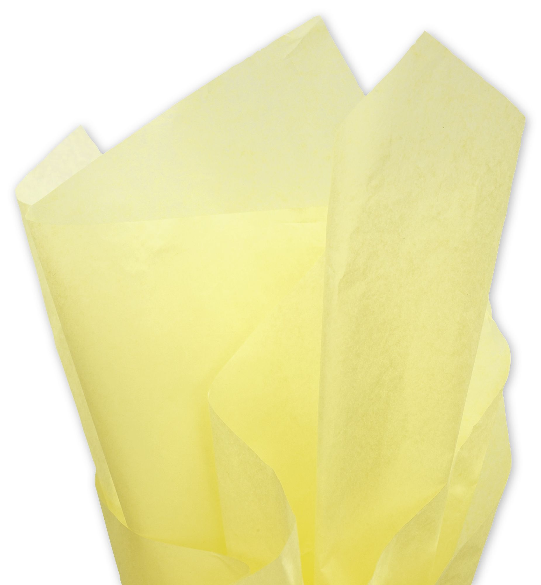 Dress up your gifts with this vibrant solid yellow tissue paper. Mix and match with colors or patterns for added style.