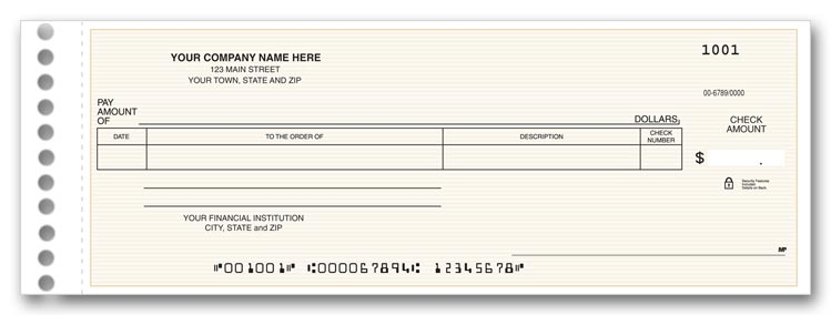 These One write checks are ideal for recording general expenses.