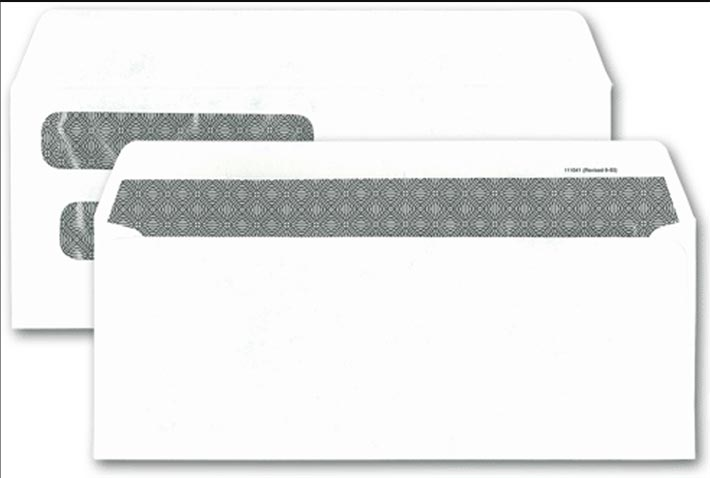 Two window envelope for one write checks