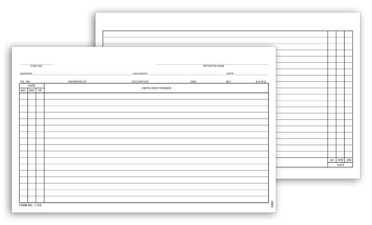 Custom General Patient Exam Records for Promotion