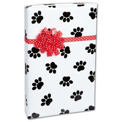 Dog paws gift wrapping paper