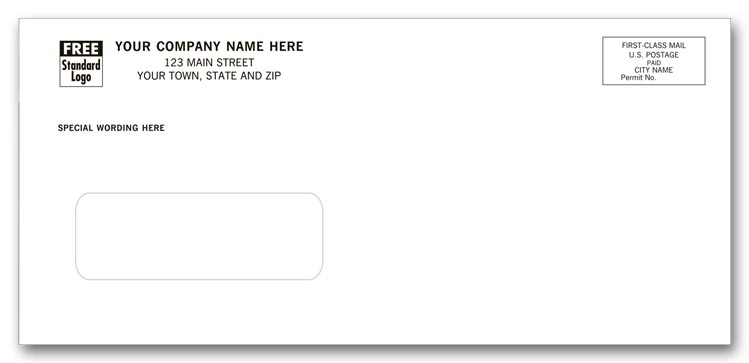 12051 - Custom Printed Window Envelopes