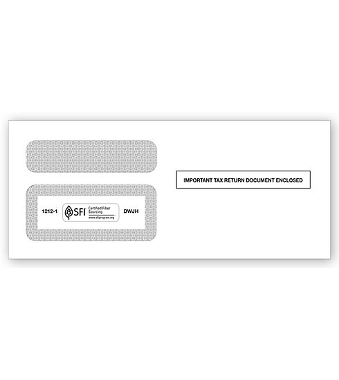 TF12121 - Double Window Envelope - 1099 Tax Form