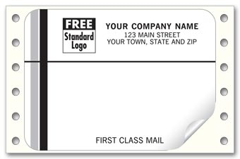 Custom First Class Mail, Mailing Labels, Continuous, White