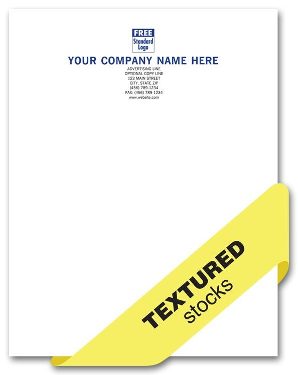 LH600 - Personalized Laid Paper Letterheads Printing