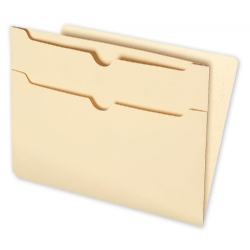 End Tab Folders with Two Pockets are convenient for storing easily retrievable information.