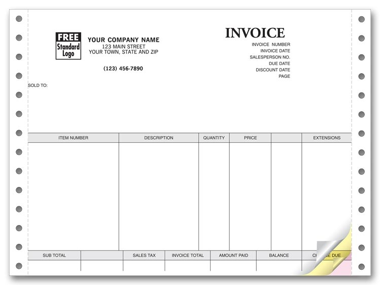 13023 - Customized Continuous Invoices