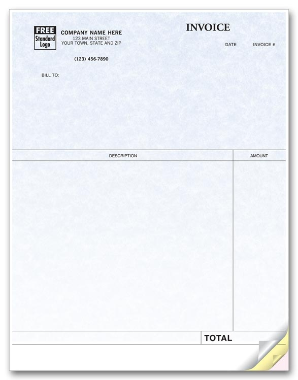 Ensure that you have ample room to record all of your necessary infomation with these Laser Invoices