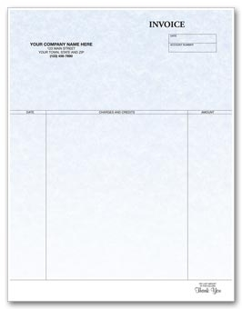 Custom  Laser Invoice Parchment printed with your business imprint.