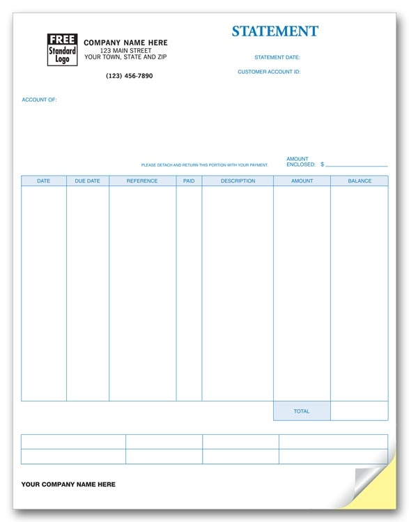 This perfect invoice allows for easy and clear billing. Compatible with Sage 50 software as well as many others.
