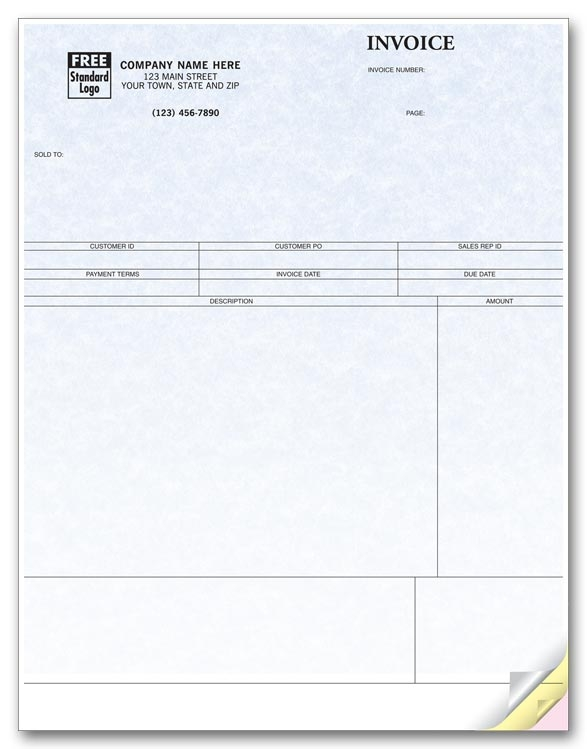 These laser service invoices are compatible with Sage 50 software and are ideal to itemize services you offer.
